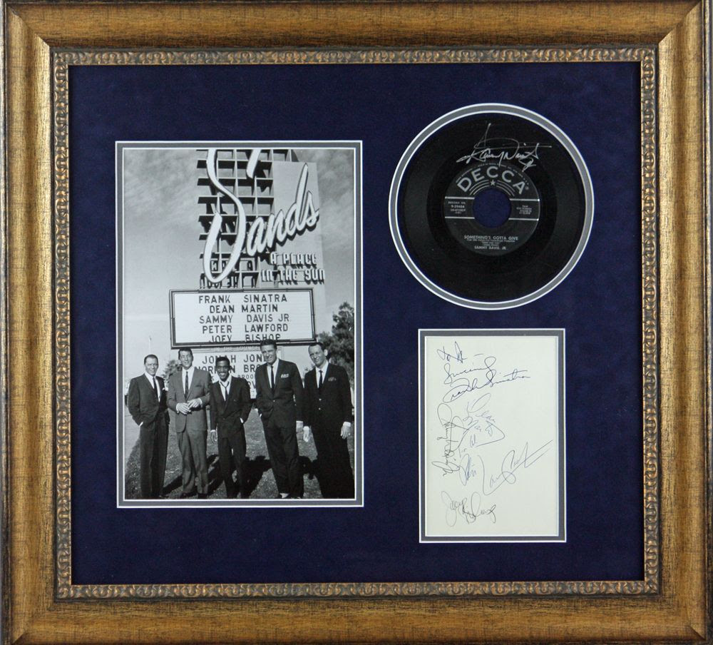 Lot Detail The Rat Pack Custom Framed Display Wrare Autograph Set