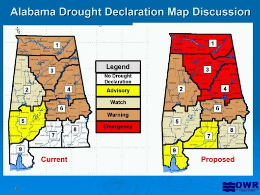 Drought emergency for 28 Alabama counties