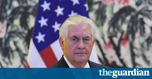 Rex Tillerson: 'I didn't want this job … my wife told me I'm supposed to do this' | US news | The Guardian