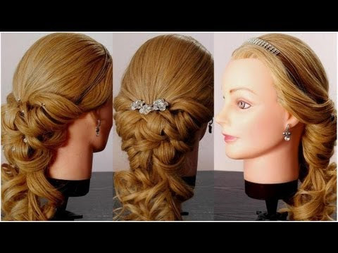 Wedding  prom hairstyles  for long hair  Romantic bridal
