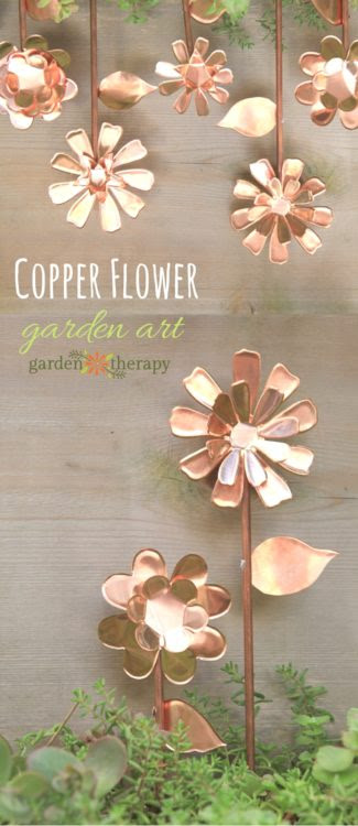 Copper Garden Art Flowers - Garden Therapy - HMLP 99 - Feature