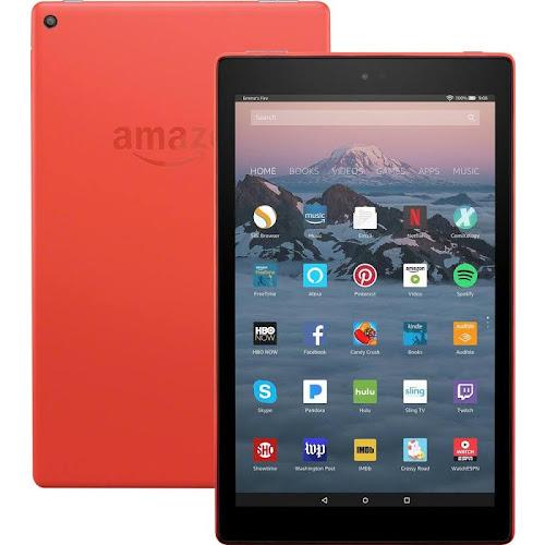 "Amazon Fire HD 10 - Wi-Fi - 32 GB - Punch Red - 10.1"""