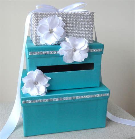 Wedding Card Box  Tiffany Blue Satin by Wrap Artist