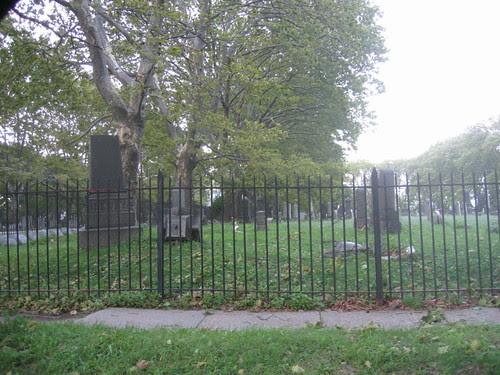 Post-Irene damage in the cemetery