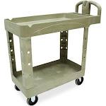 Rubbermaid Commercial Utility Cart - Trolley - 2 shelves - plastic - beige