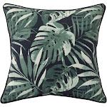 Outdoor Decor Navy Palm Decorative Outdoor Throw Pillow