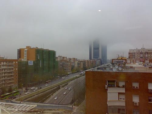 Vista desde el hotel del Paseo de la Castellana (diciembre 2008)