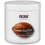 NOW Foods Cocoa Butter | 7 fl oz Cream
