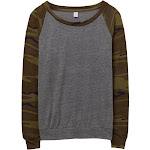Alternative Slouchy Printed Eco-Jersey Pullover