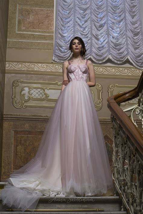 Pink wedding dress   Unique wedding dress with designer