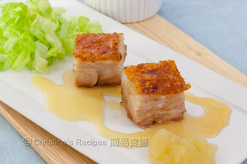 Roast pork belly with apple puree and cider vinegar vinaigrette02