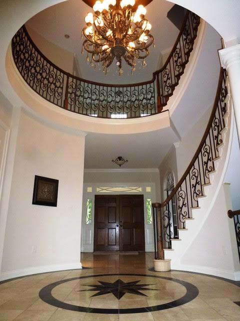Elegant foyer - mediterranean - staircase - dc metro - by Leigh ...
