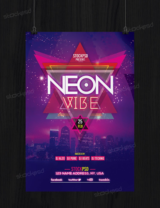 Neon Vibe - Download Free PSD Flyer Template - Stockpsd.net - Free PSD Flyers, Brochures and more