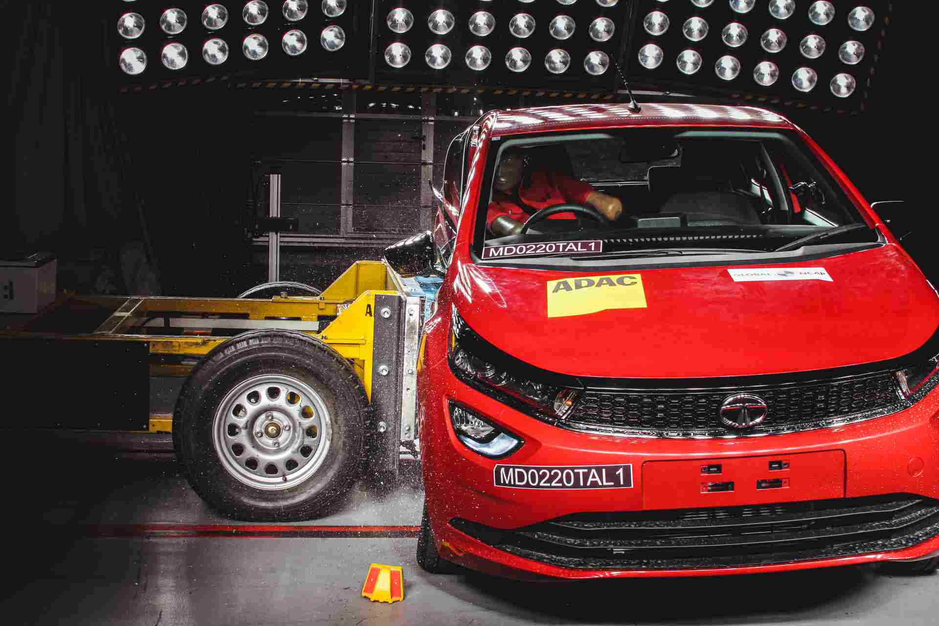 The Tata Altroz remains the only premium hatchback on sale in India to be awarded five stars by Global NCAP. Image: Global NCAP