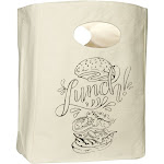 Canvas Lunch Bag - Organic Cotton Lunch Tote - Cotton Fluf Lunch Sack for Kids, Adults, Men & Women | Organic Cotton Mart