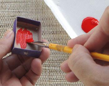 Pinte a caixa de fósforo