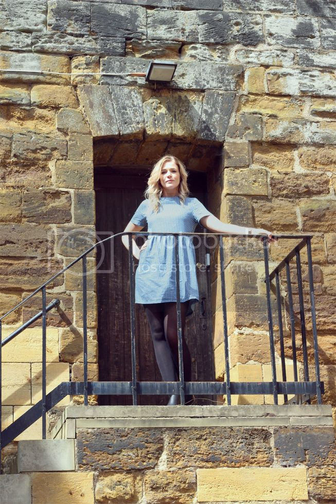 boohoo dress smock outfit