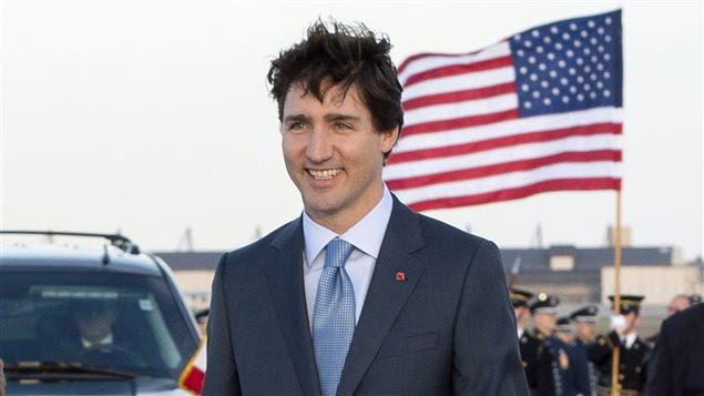 Le premier ministre Justin Trudeau à son arrivée à Washington pour une visite officielle de trois jours.