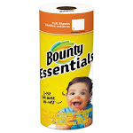 Bounty Essentials Paper Towels 2 Ply 40 Sheets White (Single Roll) 74657