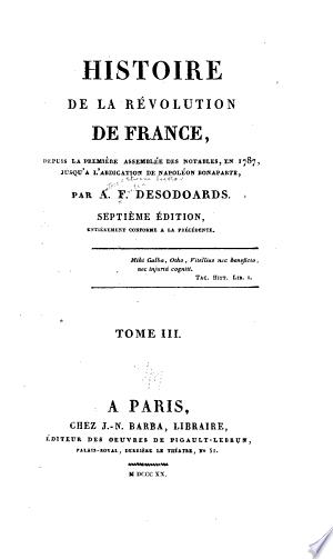 Telecharger Histoire De La Revolution De France Livre Pdf