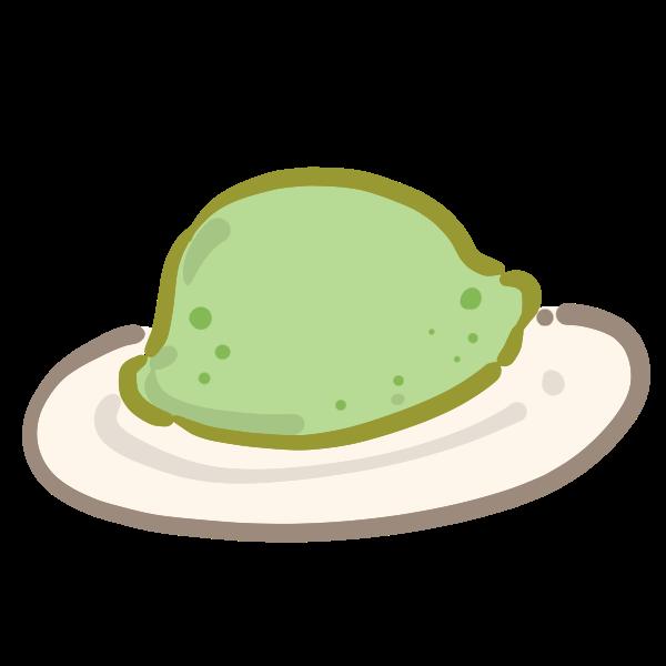 ウグイス餅のイラスト かわいいフリー素材が無料のイラストレイン
