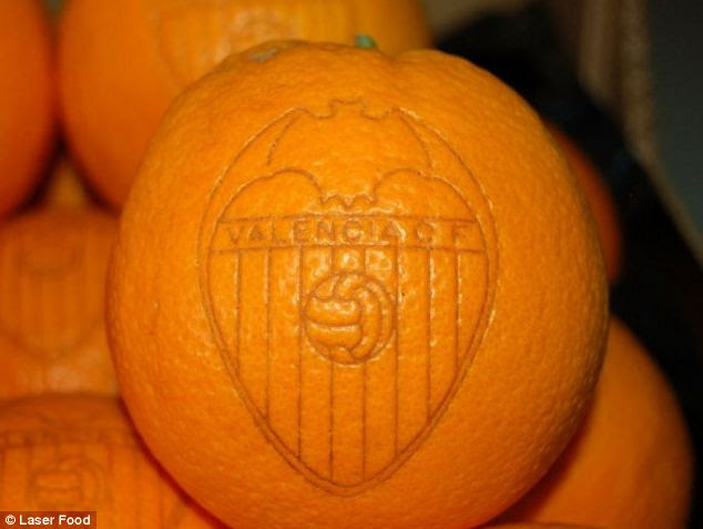 The EU ruling initially applies to lasering citrus fruits, such as oranges (pictured), melons and pomegranates.