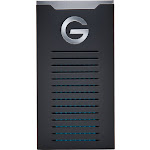 G-Technology - G-DRIVE Mobile SSD R-Series 500GB External USB 3.1 Gen 2 Portable Solid State Drive - Black/Silver