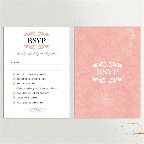 Wedding Invitations With Rsvp Cards Included : Wedding