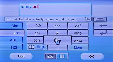 Figure 7—Nintendo Wii remote in disambiguation mode