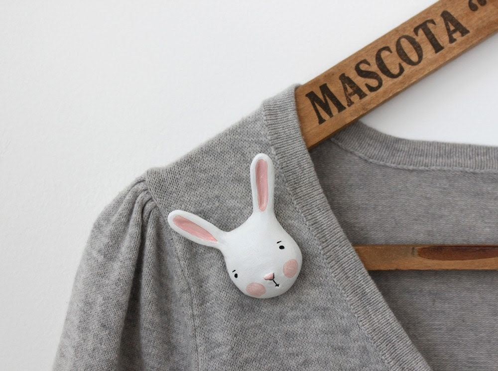 Real bunny - brooch (made to order)