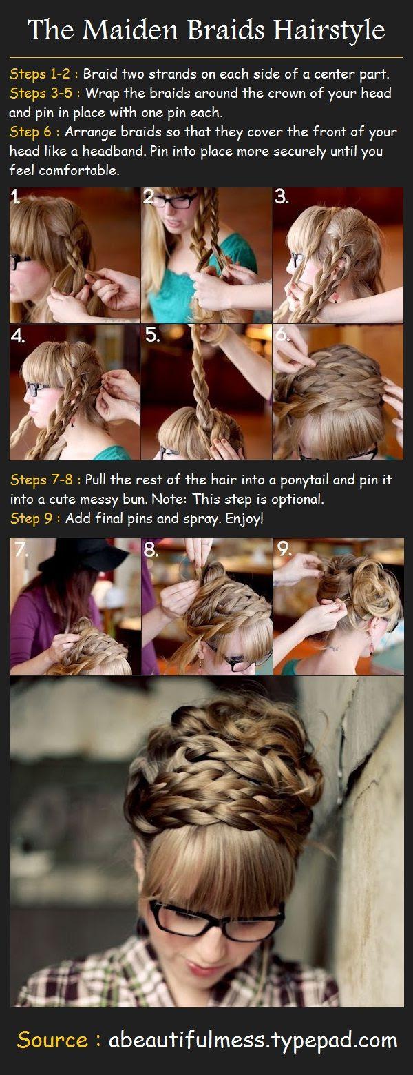 Maiden braided DIY hair tutorial !! ♥