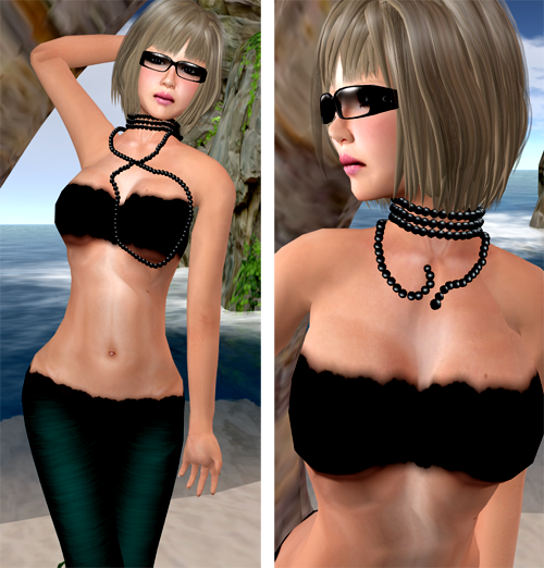 NEW! Black Pearl Beads Necklaces by Tik.Tok