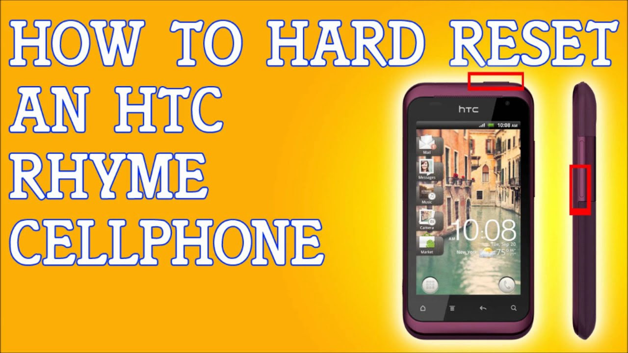 How To Hard Reset A HTC Rhyme Forgot Password Fix - YouTube