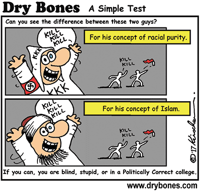 Dry Bones cartoon,Amazon, Dry Bones Fights Back, Nazi, Muslim, Islamism, terror, terrorism, Book, Kindle,