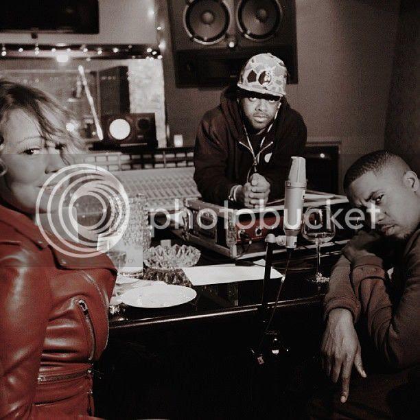 Pic: Mariah Carey checks into the studio with Nas...