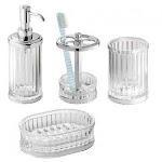 (Soap Dish) - InterDesign Alston Bar Soap Dish for Bathroom Vanities, Kitchen Sink - Clear