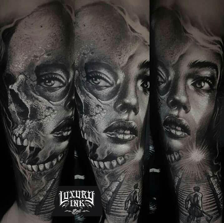 Girl Face Tattoo Best Tattoo Ideas Gallery