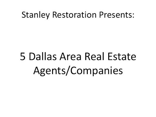 Dallas real estate companies, Presented By Stanley Restoration