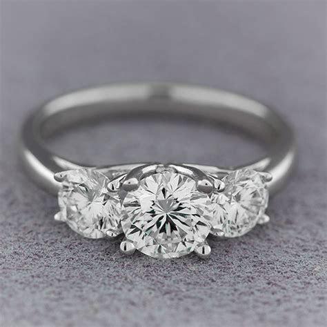 Signature Forevermark Three Stone Diamond Ring 18K   Ben