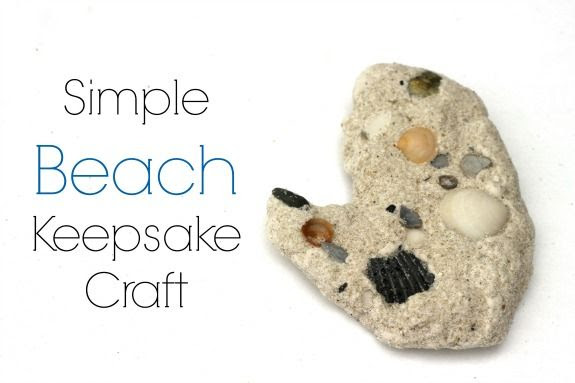 Simple Beach Keepsake Craft