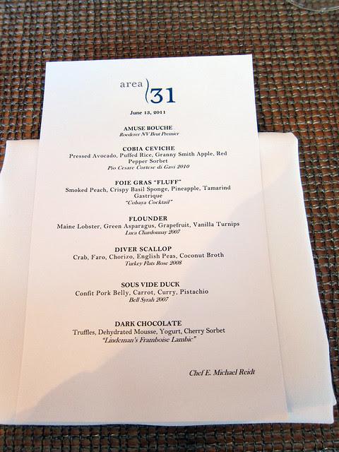 Cobaya 31 menu