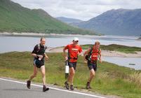 John Fleetwood, Spyke and Mark Hartell at Loch Cluanie
