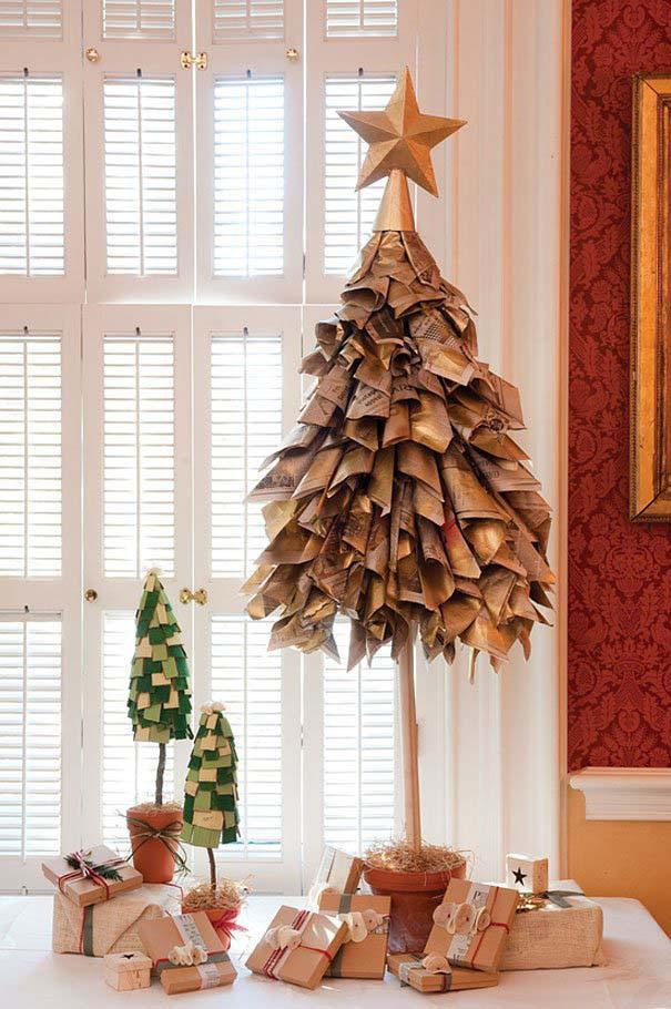 DIY Χριστουγεννιάτικα δέντρα (25)