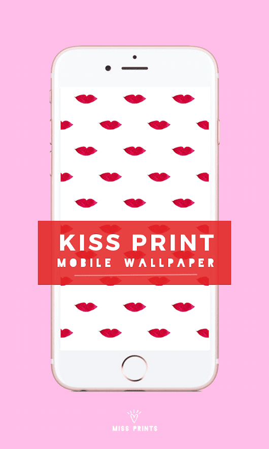 FREEBIES / LIP PRINT MOBILE WALLPAPER