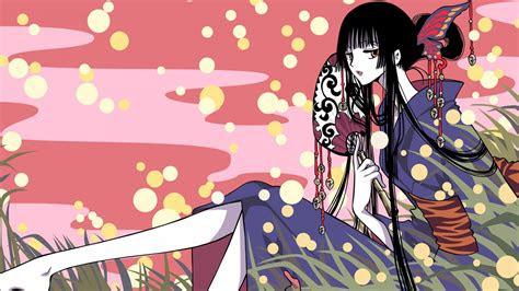 anime maedchen sitzen auf dem rasen  iphone scse hintergrundbilder hd bild