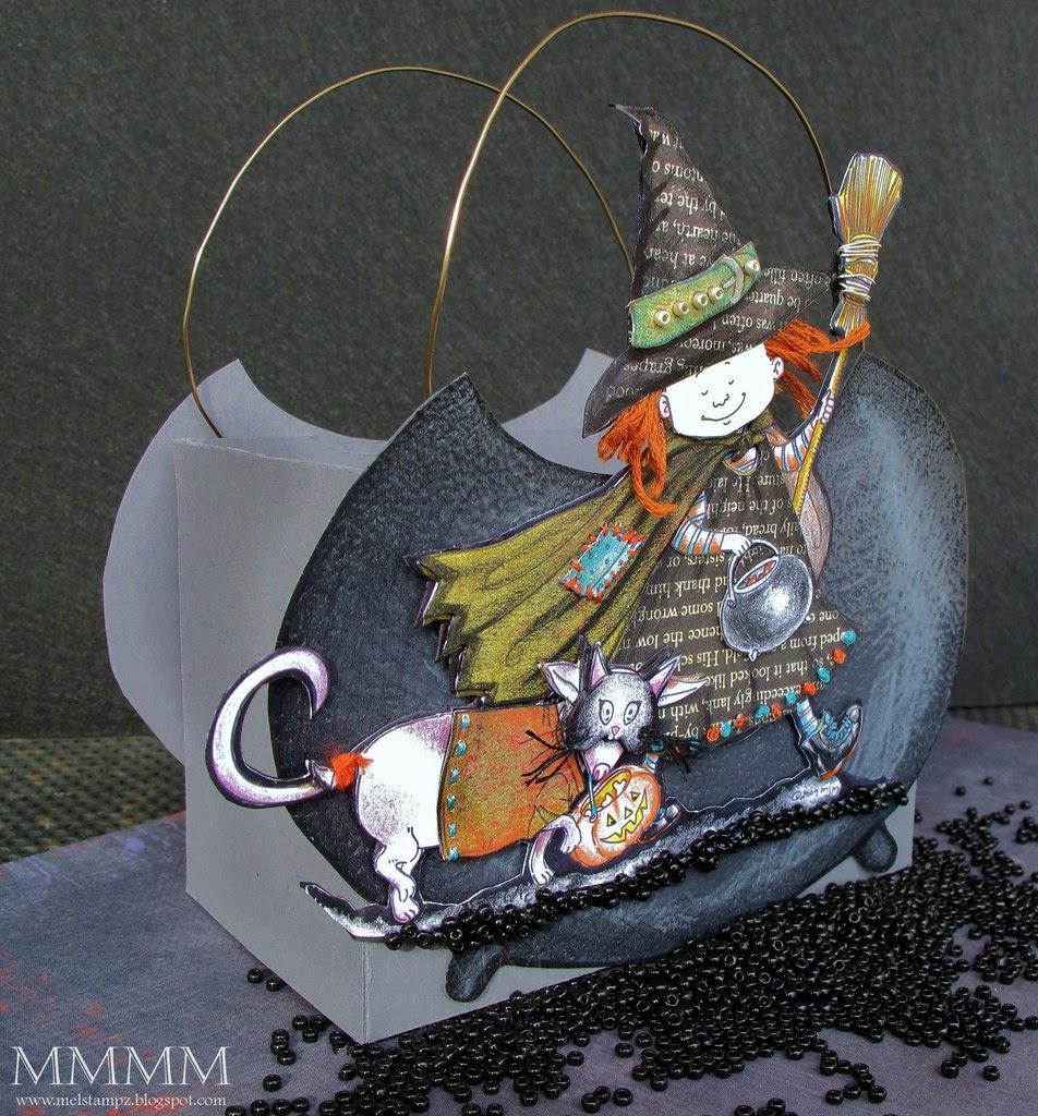 Trick or Treat Mo's Digital Pencil freebie Stick image on cauldron box mel stampz