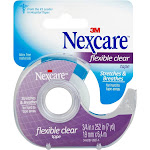 Nexcare Flexible Clear First Aid Tape, 779, Dispenser, 3/4 in x 7 yds