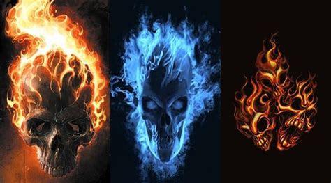 flaming skulls wallpaper wallpapersafari
