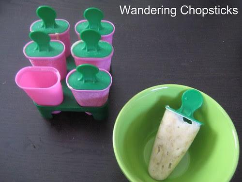 Banana and Coconut Frozen Yogurt Popsicles 1