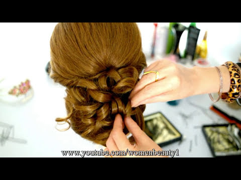 Wedding prom updo hairstyle  for long  hair  tutorial YouTube